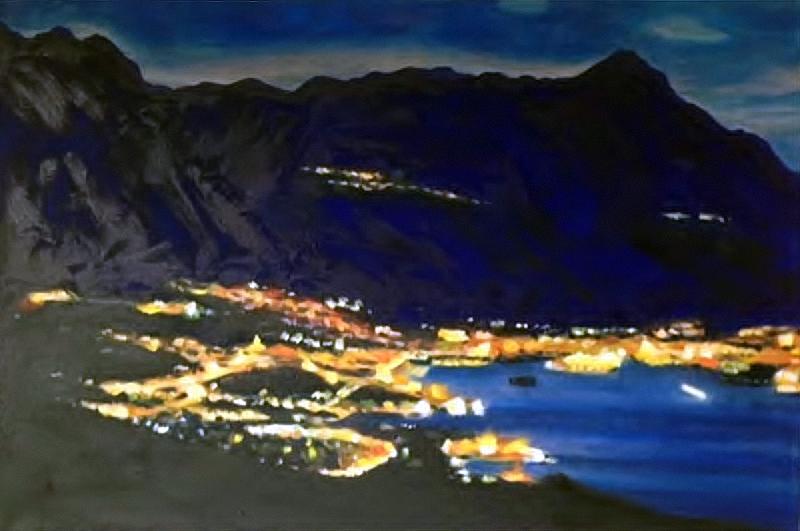 Split by night (2017) - oil on canvas - 70x50cm